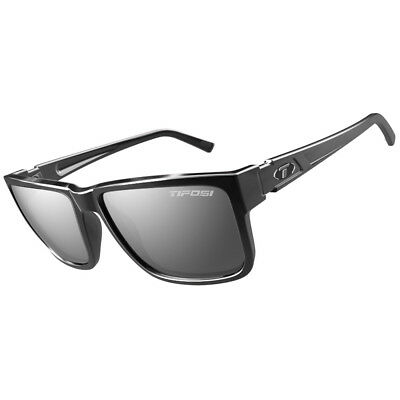 Tifosi Hagen Xl Sunglasses Gloss Black, Smoke Lens [1270400270]