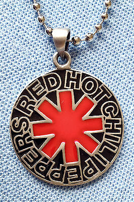 Red Hot Chili's Enamel Pendant Mens Boys Necklace Chain   Bpc076