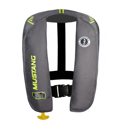 Mustang Mit 100 Inflatable Pfd Manual Gray/Yellow-Green [Md2014/02-Gy/Yw]