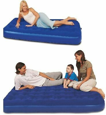 Bestway Inflatable Blow Up Flocked Camping Holiday Travel Guest Air Mattress Bed