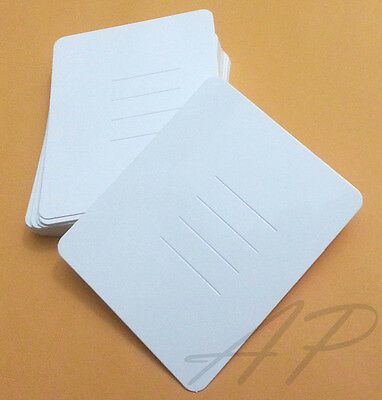 Wholesale 600pc Blank Hair Clip Display Card in White Kraft Paper Accessory