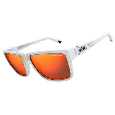 Tifosi Hagen Xl Sunglasses Matte White, Smoke Red Lens [1270401278]