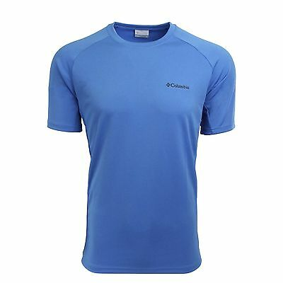 Columbia Men's Crew Neck Short Sleeve Shirt Royal Blue M