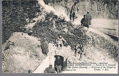 Louis Levy Postcard Entrance To The Chapel Of Cessier Somme C1916