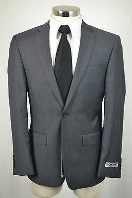 (40R) NEW DKNY Men's Gray MOD SKINNY FIT Flat Front 2 Piece Suit (36x30)