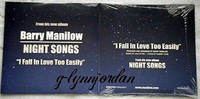 Barry Manilow Night Songs Single Cd *i Fall In Love Too Easily* New Sealed