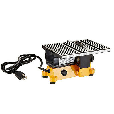 """ASG Mini 4"""" Table Bench Saw Electric Portable Wood Metal Glass Cutting Tool 220V"""