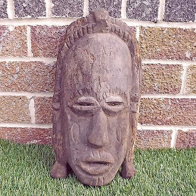 Vintage Hand Carved Wooden Carved African Mask - Unidentified