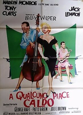 manifesto movie poster 2F A qualcuno piace caldo Some Like It Hot Marilyn Monroe