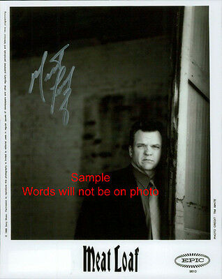 MEAT LOAF Signed Original Autographed Photo 8x10 COA #1