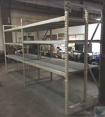 97'' High Two Units Long Two Section Pallet Rack Warehouse Shelving