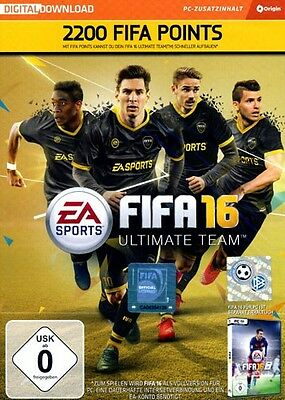 FIFA 16 2200 Ultimate Team Punkte (DLC Only) PC Neu & OVP