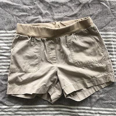 Motherhood Maternity Under Belly Khaki Maternity Shorts Size Medium