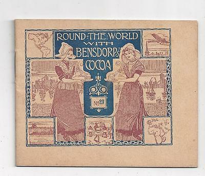 BENSDORP'S COCOA photo booklet ROUND THE WORLD #27 Rotterdam Hague advertising