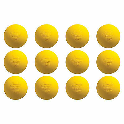 NEW Yellow Lacrosse Balls NOCSAE / SEI / NFHS / NCAA Certified: 12 Pack
