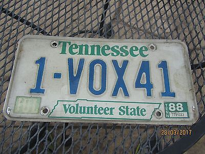 1988 TENNESSEE Volunteer State License Plate
