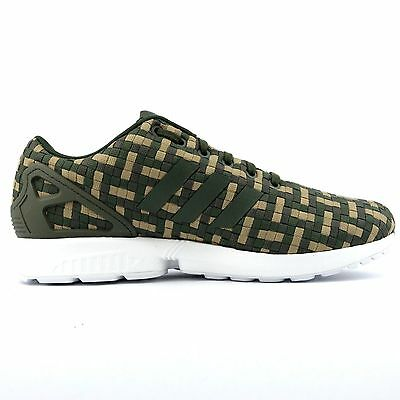 ADIDAS ZX FLUX Camouflage green brown camo Textile mens