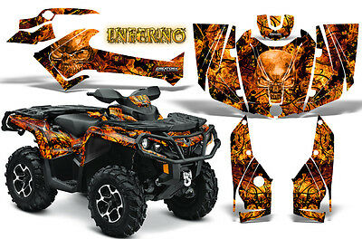 Can-Am Outlander 800 1000 R Xt 12-16 Graphics Kit Creatorx Decals Inferno