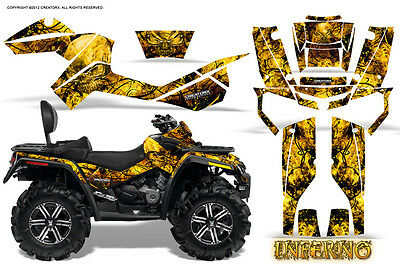 Can-Am Outlander Max 500 650 800R Graphics Kit Decals Stickers Inferno Y