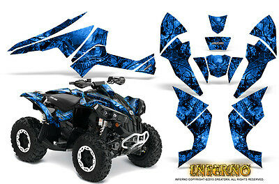 Can-Am Renegade Graphics Kit by CreatorX Decals Stickers INFERNO BL