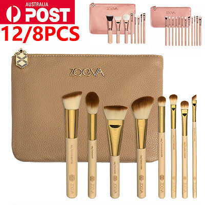 AU ZOEVA Rose Golden Complete Cosmetic Makeup Power Eye Brushes Set with Package