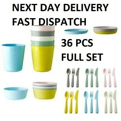 Children's Kids Plastic Bowls Cups Plates Cutlery Set or Individual Ikea Kalas