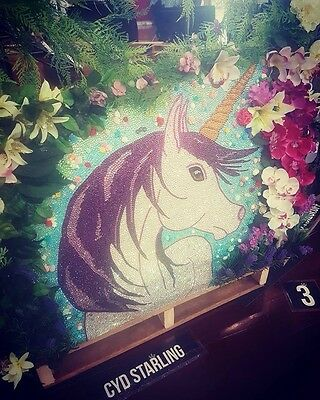 Magical Unicorn Artwork Made With Crystal Rhinestones