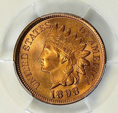 1898 Indian Head Cent Pcgs Ms-66 Red
