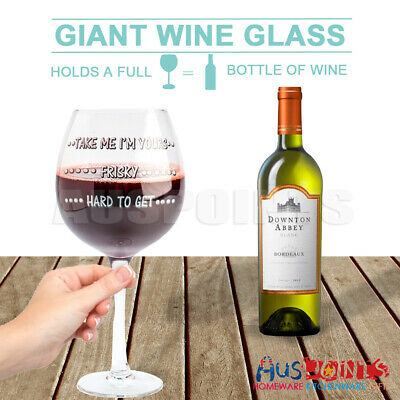 Giant Wine Glass Holds Whole Bottle Great Party Gift Novelty