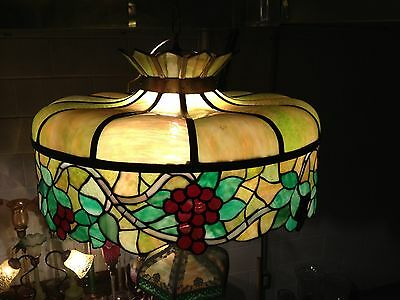 Antique Chicago Mosaic Grape pattern chandelier Stained Glass Ceiling Lamp Shade