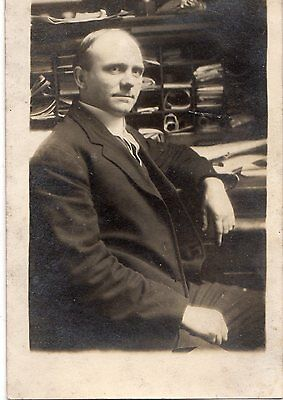 MAN IN SUIT  ~ Vintage Real Photo Postcard RPPC - VIEW OTHER CARDS