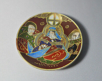 RARE Japanese Hand Painted Gilded Christian Decor Plate Beautiful, UNIQUE!!!