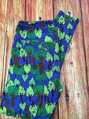 Lularoe Women's Leggings TC New Trees Earth  Green Blue Unicorn