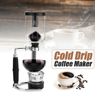 Brew Dutch Coffee Cold Water Ice Drip Dripper Maker Home Office Serve For 3 Cups