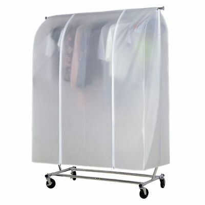 6ft Garment Clothing Rack Cover Single Rail  with Strong Double Zip Pocket