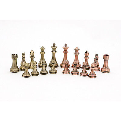 New Bronze & Copper Chess Pieces, 101mm Board game