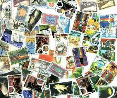 Senegal Stamp Collection - 100 Different Stamps