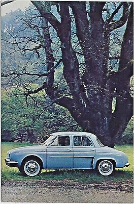 1956-67 Renault DAUPHINE 4-Door Original NOS Dealer Promo Postcard UNUSED VG+ ^