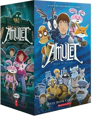 Amulet Box Set: Books 1-7 (Amulet) [New Book] Graphic Novel, Paperback, Boxed