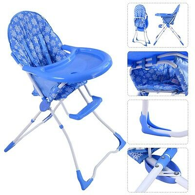 Baby High Chair Infant Toddler Feeding Booster Seat Folding Safe Portable Kids