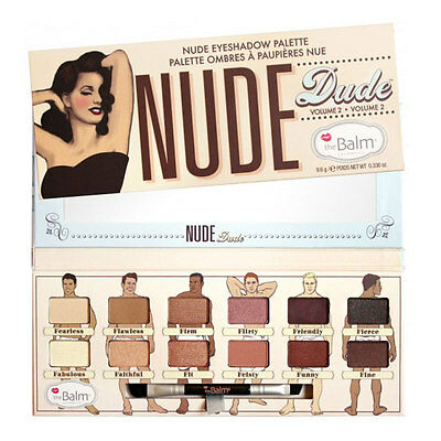 The Balm Nude Dude Warm Matte Eyeshadow Shimmer 12Colors Palette Makeup Kit Set