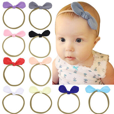 Infant Baby Cute Ribbon Bow Headband Newborn Hair Band Headdress Headwear New
