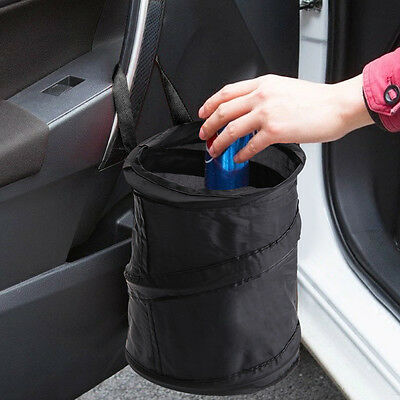 Mini Bin For Car Trash Garbage Rubbish Hanging Collapsible Foldable Waste Basket