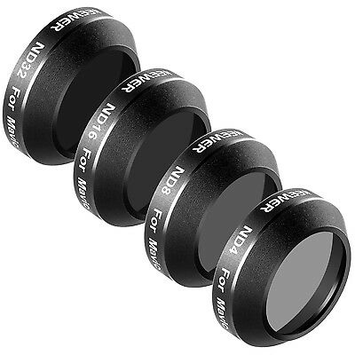Neewer 4pcs Filter Kit ND4 ND8 ND16 ND32 for DJI Mavic Pro Drone Quadcopter