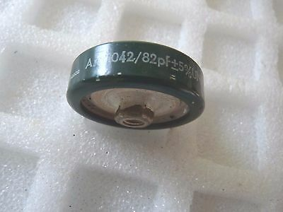 CAPACITOR DOOR KNOB 82 pF 7KV AC LCC FRANCE  1PC