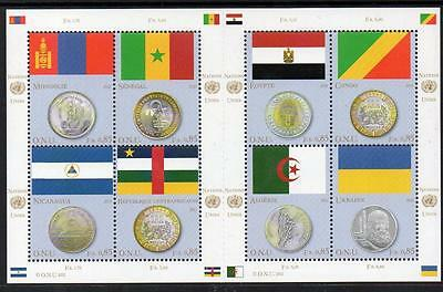 UN Geneva MNH 2011 Flags and Coins M/S