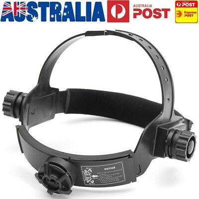 AU Adjustable Solar Welding Welder Mask Headband Auto Dark Darkening Helmet New