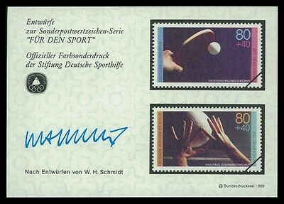 GERMANY SPORTHILFE 1989 ENTWÜRFE TISCHTENNIS VOLLEYBALL TABLE TENNIS PROOFS by30