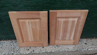"Set of 2 Raised Panel Kitchen Cabinet Door Unfinished 16"" x 13"""