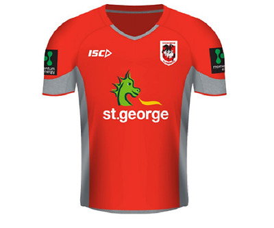 St George Illawarra Dragons Tee Red Adult